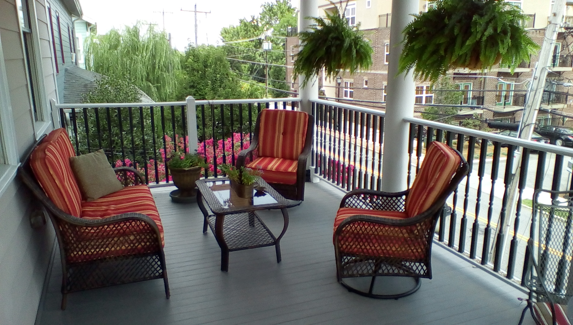 Porch area at the Haynes Bed and Breakfast